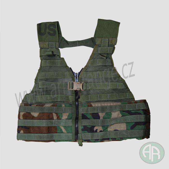Taktická vesta US FLC, MOLLE II, woodland - UNI, original US ARMY